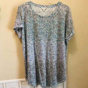 Lucky Brand Floral Short Sleeve Tee Size 2X